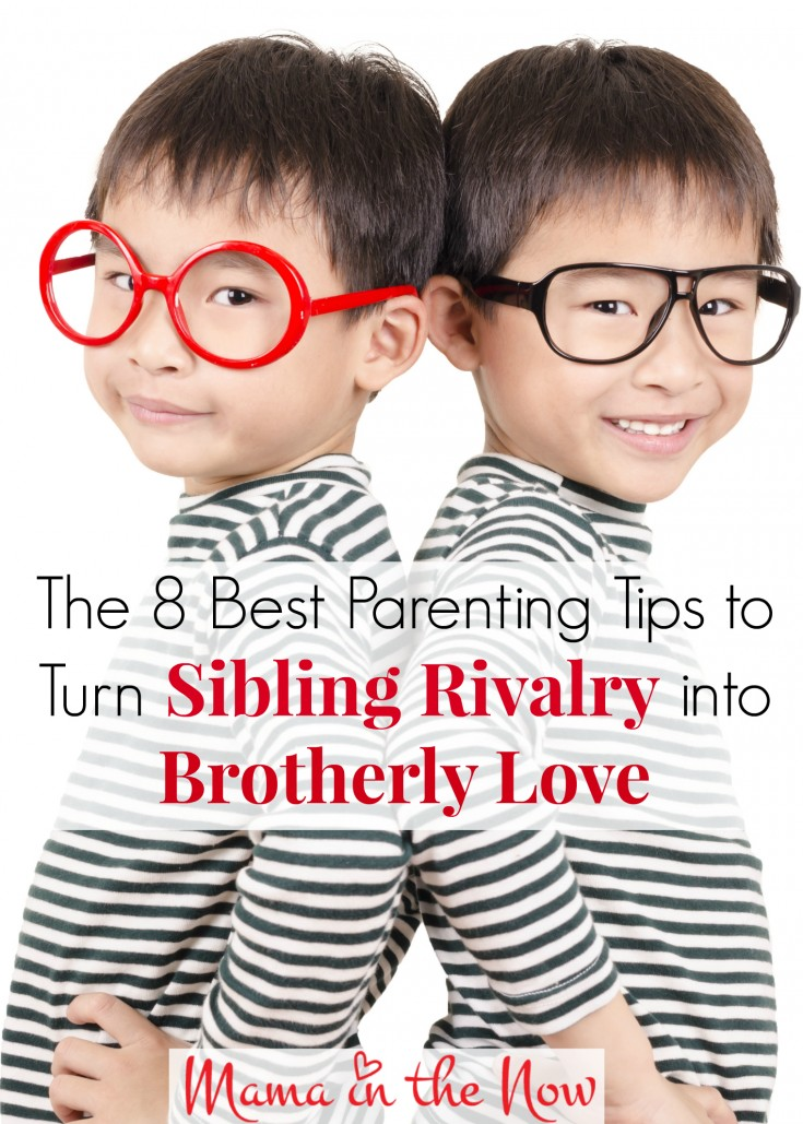 The 8 best parenting tips to turn Sibling Rivalry into Brotherly Love. Parenting hacks from a mother of four boys.