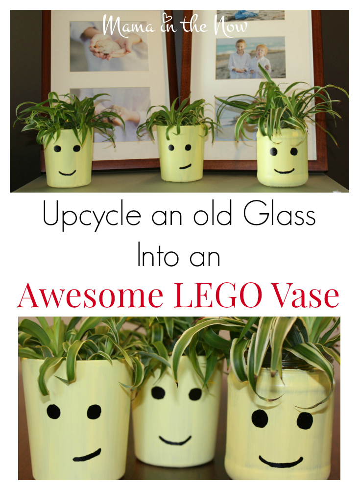 Upcycle an old glass into an awesome LEGO vase. This is a great STEM project for preschool and elementary school children.