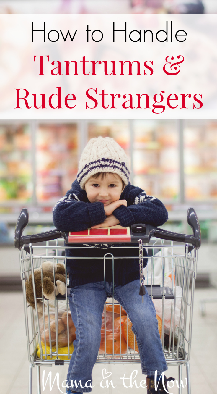 How to handle toddler tantrums and rude strangers. This mom has the perfect come back! Parenting is hard enough - let's lift each other up!