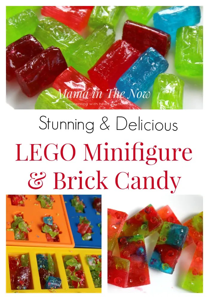 Making your own LEGO minifigure and brick candy is perfect as party favors or decorations for a LEGO party. Click for complete directions.