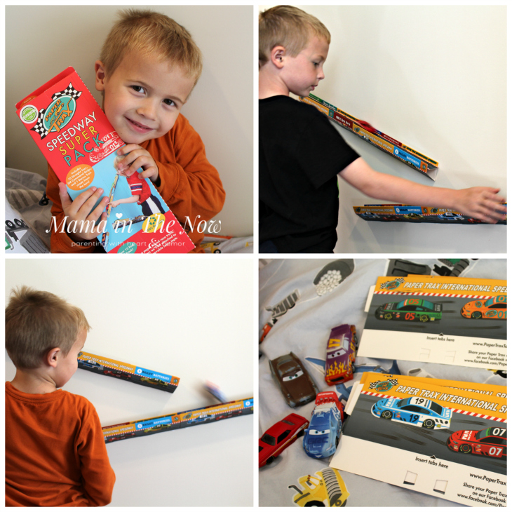 Paper Trax toys for kids who love cars. Great STEM exercise, gravity lessons, speed.