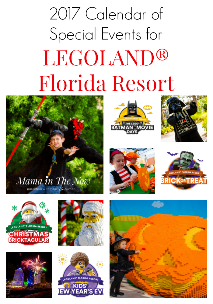 2017 calendar of special events for LEGOLAND® Florida Resort. Plan to buy annual passes, they have so much LEGO fun planned for the whole family.