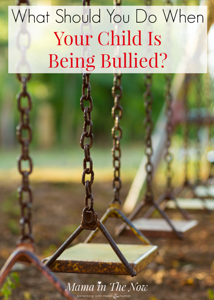 When do you let your bullied child handle things? When should the parents or the school get involved? Expert tips for what parents should do when their child is bullied. #bullying #bullied #stopbullying #bully #parenting #mamainthenow