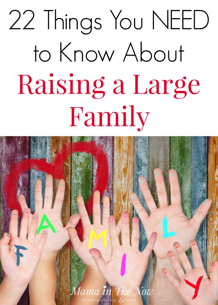 Considering having a large family? There are things no one ever tells you about having a lot of kids, but you NEED to know these things! Hear these motherhood secrets from a mother of four. Raising a large family truths!