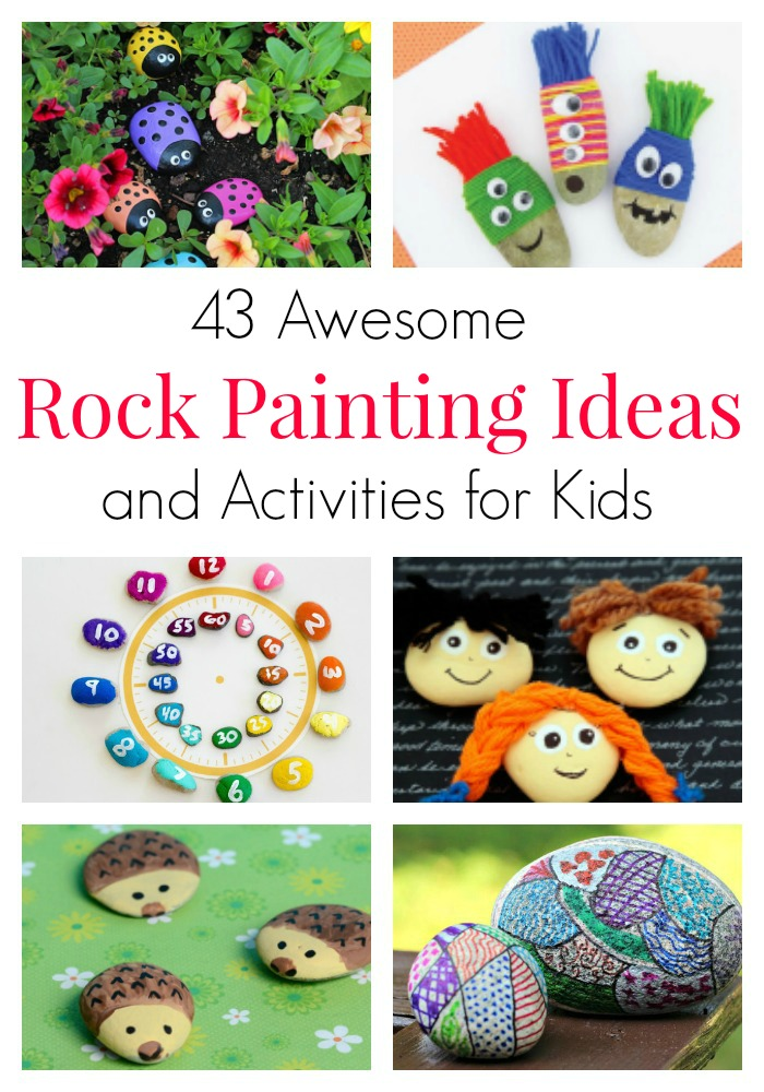 These rock painting ideas and activities for kids are great for fine motor skills, nature play, and teaching kids about random acts of kindness.