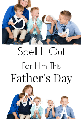 Fun photo session idea for Father's Day, birthdays or Christmas cards. Funny family photo session. Unique group photo idea.