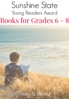 School recommended summer reading inspiration for 6th through 8th grade. Sunshine State Young Readers Award Books for grades 6-8. Fun, engaging and intriguing books for kids in 6th, 7th and 8th grade. Challenging reading for elementary school kids.