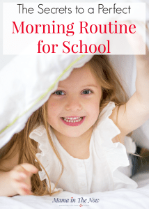 Start your day right with a dreamy morning routine for school. Enjoy motherhood and your mornings with easy transitions, get the kids to school, get in a good routine for kids AND parents.