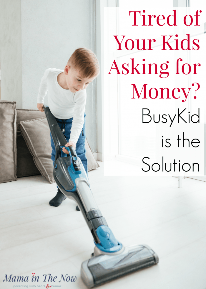 Are you tired of your kids asking for money? Teach them financial literacy, financial management and fiscal responsibility by setting up a chore system and allowance payment system through BusyKid. Parenting win. Set up chores your kids WILL do!