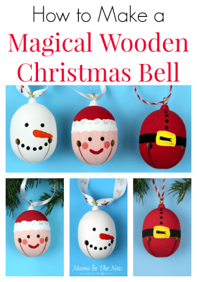 A Polar Express inspired craft for preschoolers and elementary school kids. Classroom Christmas craft. Keep the magic of Christmas alive with a beautiful Santa, snowman and Elf Christmas bell craft. #ChristmasBell #PolarExpressCraft #PolarExpress #ChristmasBellCraft #ChristmasCraft