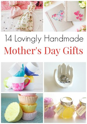 14 Lovingly Handmade Gifts for Mother's Day. Surprise Mom on Mother's Day or on her birthday with these homemade thoughtful gifts - also great for mother-in-laws and grandparents. Adorable gifts for mom. Lovingly made presents for mom. #MothersDay #GiftsForMom #GiftsforMotherInLaw #Handmade #Homemade #mamainthenow