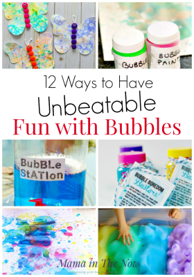 12 Ways to Have Fun with Bubbles. Bubble fun for kids. Summer outdoor activities for kids. Ideas for play with bubbles for kids. #Bubbles #Summer #SummerBucketList #BubbleFun #GrossmotorSkills #FunForKids #mamainthenow