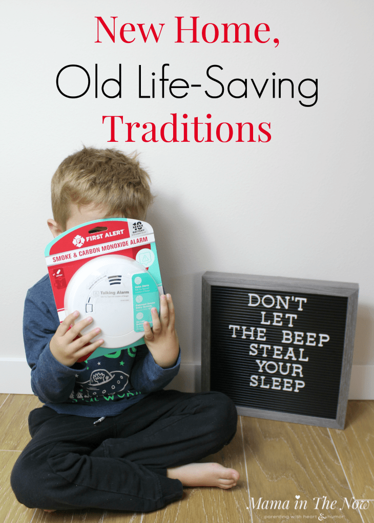 New home traditions. Family traditions. Family safety. New home maintenance routines, when should you check on your CO alarm? How to keep your family safe and your house well-maintained. #HouseMaintenance #ReplaceYourCOAlarms #Family #Safety #FamilySafety #HappyFamily #ad