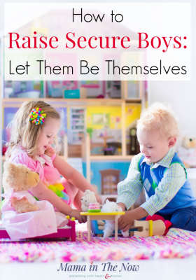 Raising secure and confident boys to be mature grown men. Parenting tips from a mother of three. Parenting boys and raising little men. Parenting advice from a mom of three boys. Raise secure boys who may or may not play sports. #Parenting #ParentingBoys #RaisingBoys #BoyMom #parentingtips #MamaintheNow #ParentingAdvice #RaisingLittleMen