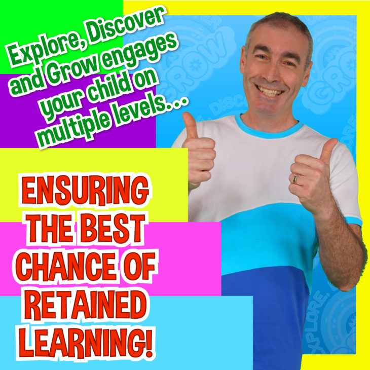 Explore, Discover and Grow engages your child on multiple levels