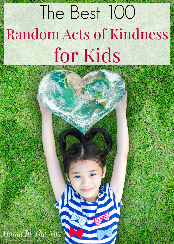 Random acts of kindness for kids to do and learn about kindness. Parenting tips to raise kind kids. Kindness matters when raising kids. Random acts of kindness for the whole family. #KindnessMatters #RaisingKindKids #RAOK #RAOKforKids #RAOKforthefamily #mamainthenow