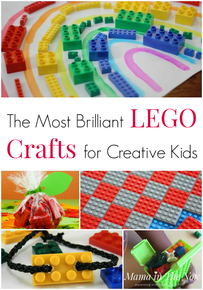 Creative LEGO crafts for kids of all ages. Creative craft ideas using LEGO. Create with LEGO. #LEGO #LEGOFun #LEGOCrafts #LEGOIdeas #CraftsforKids #MamaintheNow