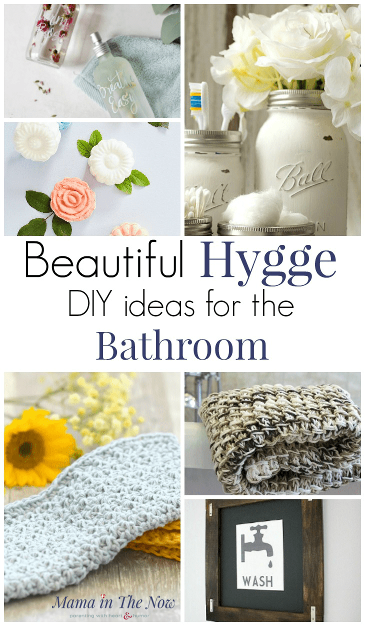 Hygge ideas for the bathroom. DIYs and crafts to decorate the bathroom. Enjoy a hygge lifestyle with beautiful DIYs