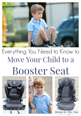 Everything you need to know to move your child to a booster seat. Booster seat review by mother of four. Transition your child safely into a booster seat. Booster seat tips and tricks. Current car seat laws and the latest booster seat safety information. Click here to learn how to know when your child is ready for a booster seat. #Diono #BoosterSeat #CarSeat #CarSeatSafety #BoosterSeatSafety #Parenting #MamaintheNow #ad