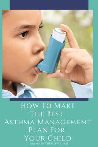 child with asthma inhaler