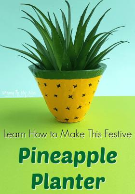 pineapple themed planter