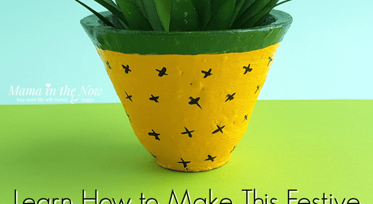 Learn How to Make This Festive Pineapple Planter