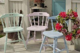 krzesła schabby chic