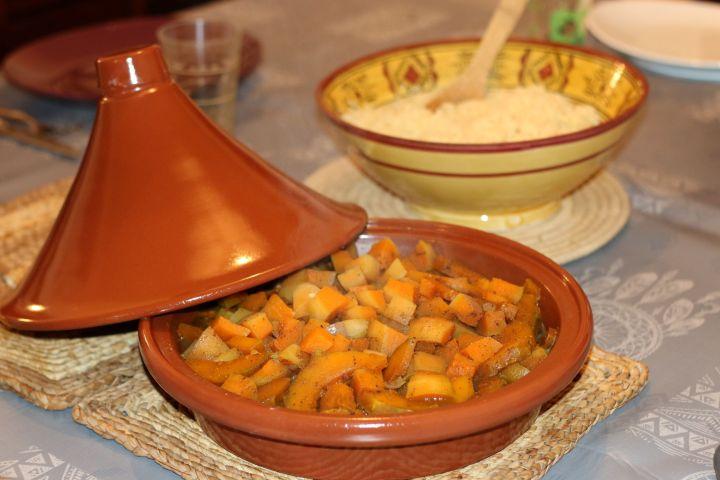 Tajine de légumes d'automne au miel (végétarien)
