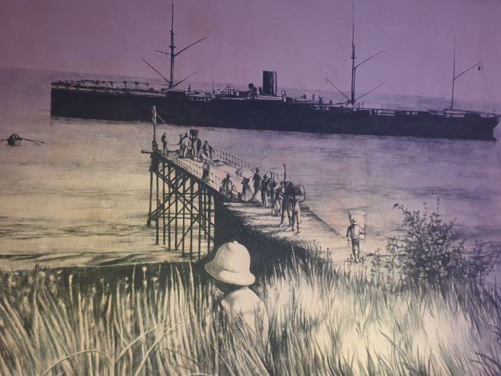 Le lazaret de la Grande Chaloupe - débarquement des passagers en quarantaine