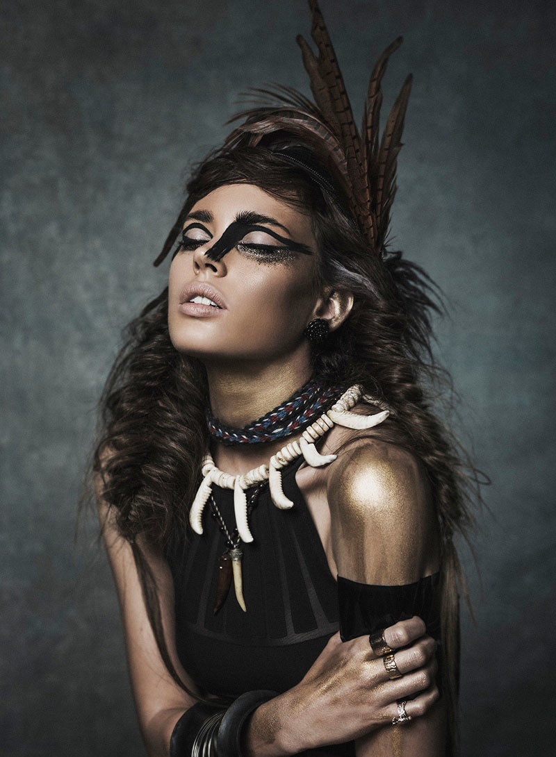 Tribal Chic Por Jess Alonso Para Elle Rumana Agosto