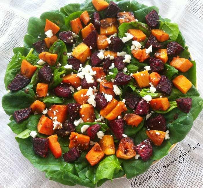 Salata od pečene cikle i bundeve 1