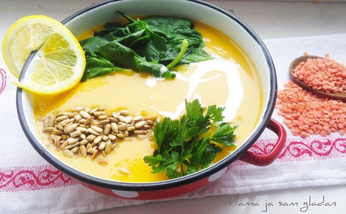 Gusta juha od crvene leće1