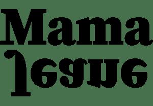 Black and White Mama Jeane Logo