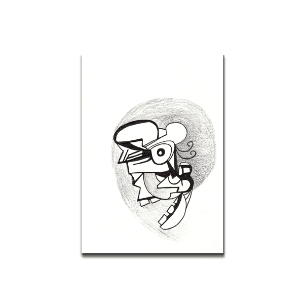 black and white drawing mask