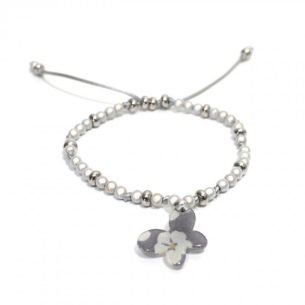zoom Liberty print bracelet Misti Grey 1 - Liberty print  teething nursing fiddle bracelet Misti Grey Butterfly