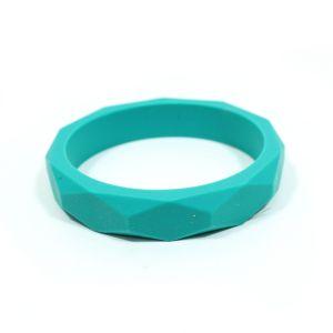 Turq bangle - GEOMETRIC silicone teething bangle bracelet Turquoise