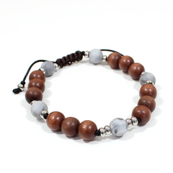 Papa Jewels mens bracelet Willis grey 2 - Willis Marble grey Mens silicone baby proof bracelet