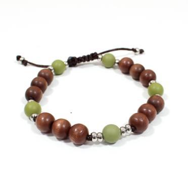 Papa Jewels mens bracelet Willis olive 1 - Willis Olive green Mens silicone baby proof bracelet