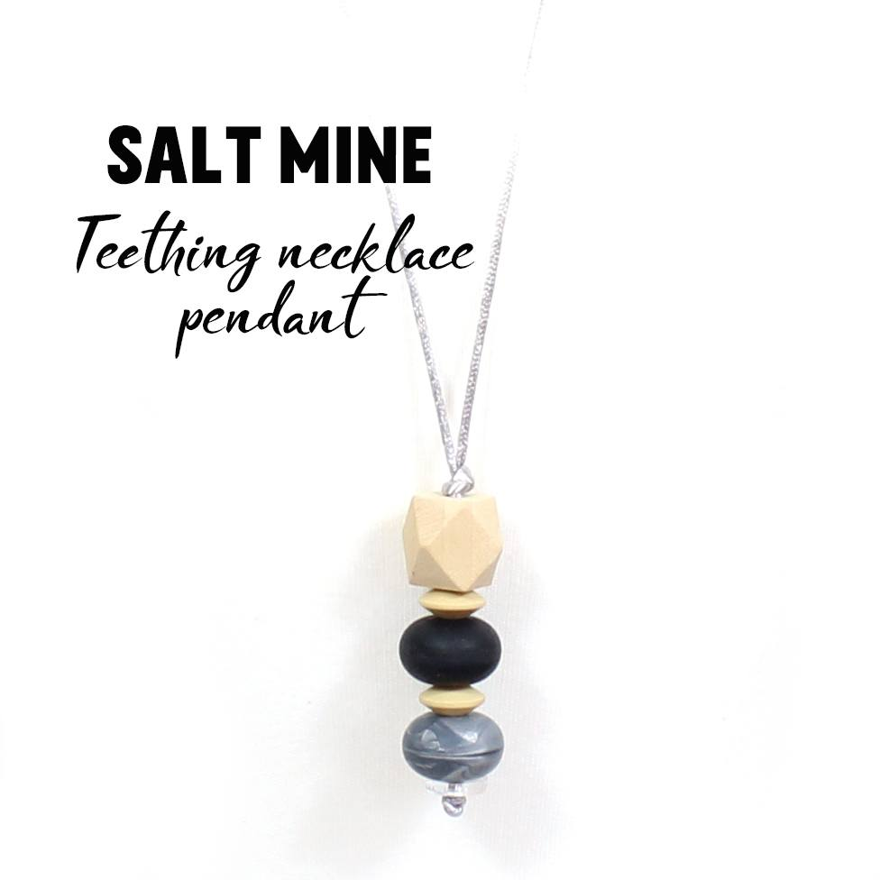 Salt mine grey geo stacking silicone wood teething necklace saltmine geo stacking teething pendant with text 300x300 salt mine grey geo stacking silicone wood mozeypictures Gallery
