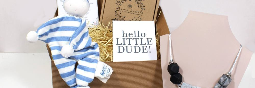 BLUE COMFORTER HAMPER - Presents For Parents