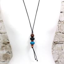 Teething necklace Baroque Teal 3 - Baroque pendant silicone teething necklace Teal blue