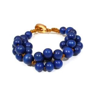 tani bracelet navy 2 - Tani French Navy blue wooden teething nursing fiddle bracelet