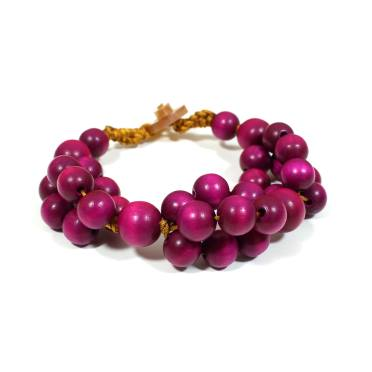tani purple bracelet 2 - Tani Purple wooden teething nursing fiddle bracelet