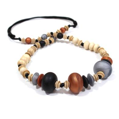 Anthropologist Bohemian Jet Copper 001 - Anthropologist Jet copper wood silicone teething necklace gift set