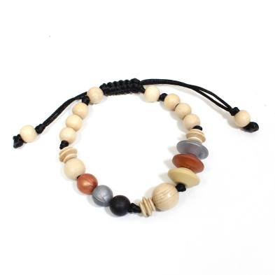 Anthropologist jet copper bracelet 1 - Anthropologist Jet copper wood silicone teething necklace gift set