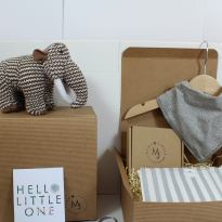 IMG 1808 - Mum and baby gift hamper set for baby girl or boy Woolly grey mammoth