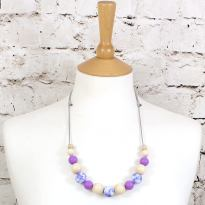 POLLY PURPLE 1TEETHING NECKLACE - POLLY Floral silicone teething necklace purple