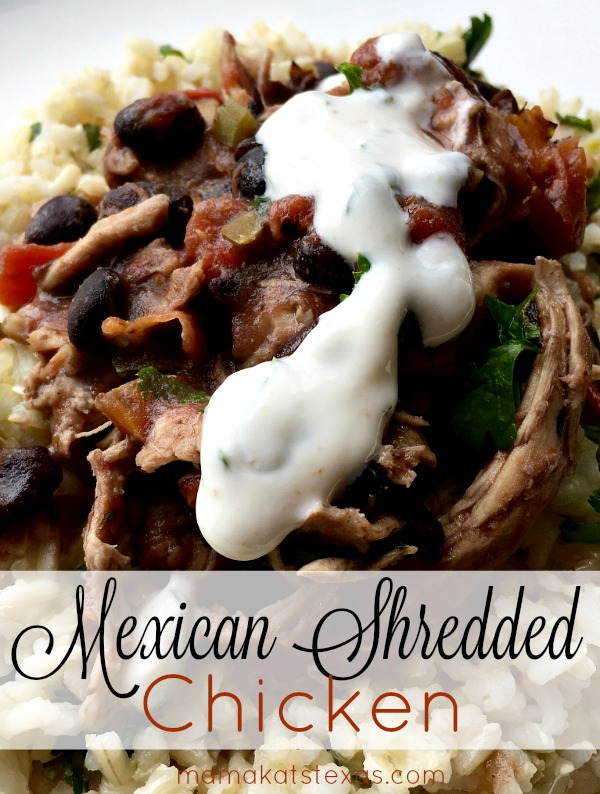 mex shredded chicken