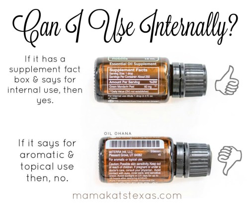 Essential Oil Internal use