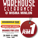 Meroyan di Warehouse Sale Wisma Minlon!
